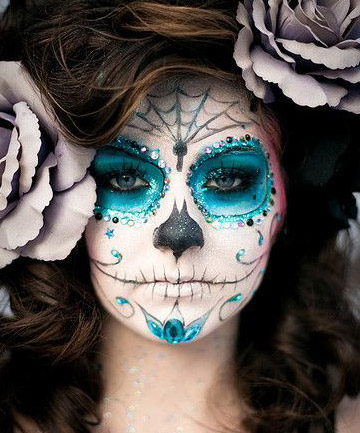 Halloween Makeup How To Day Of The Dead 01